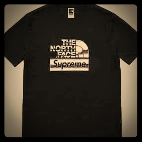 Supreme X North Face Metallic Logo T Shirt